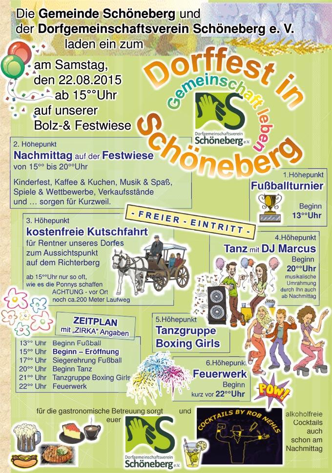 Dorf- und Sportfest in Schöneberg