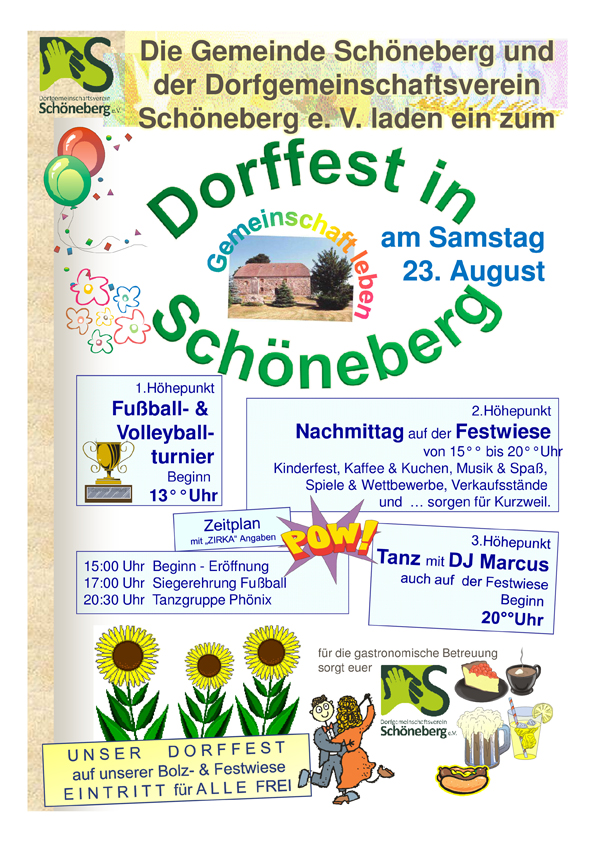Dorf und Sportfest in Schöneberg