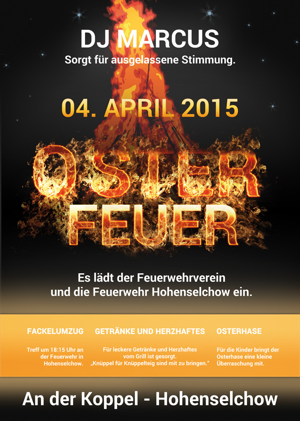 Osterfeuer in Hohenselchow